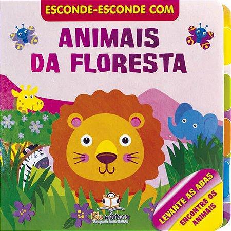 Livro Esconde Esconde Animais da Floresta