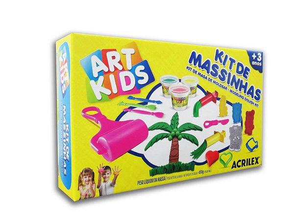 Super Kit de Massinhas com 15 peças Art Kids Acrilex