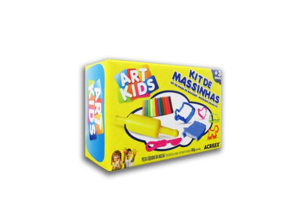 Mini Kit de Massinhas Colorida com 180g Art Kids Acrilex
