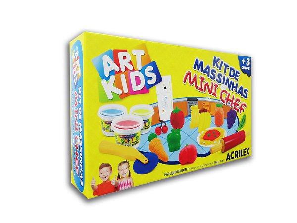 Kit de Massinhas Mini Chef Art Kids Acrilex
