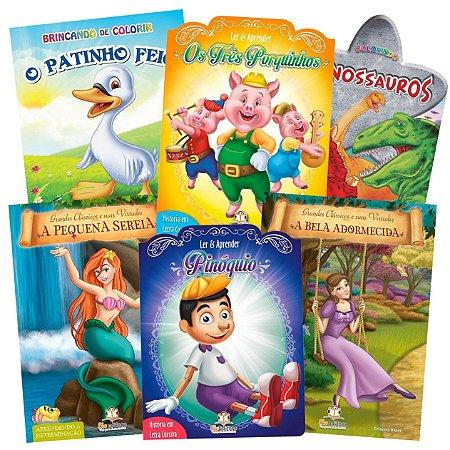 Super Coleção com 50 Livros Infantis Sortidos