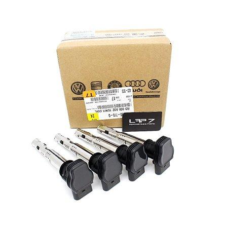 Pack 4 bobinas de Ignição Alta Performance Genuínas VAG Audi R8 2.0 TSI / TFSI Pretas