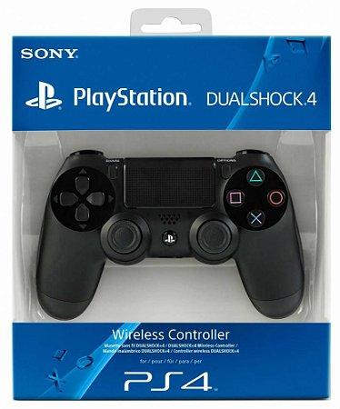 Controle Sony Dualshock 4 Preto - Sem Fio - PS4