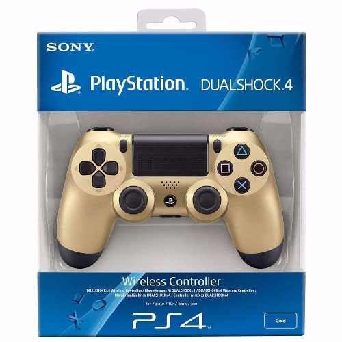 Controle Sony Dualshock 4 (Edição Gold - Dourada) Sem Fio - PS4
