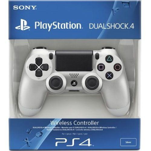 Controle Sony Dualshock 4 (Edição Silver - Prata) Sem Fio - PS4