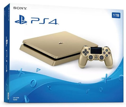 Console PlayStation 4 Slim Gold Dourado 1 Tera