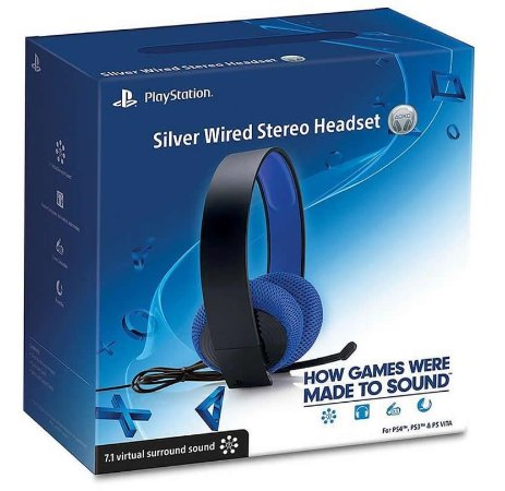 Headset Playstation Silver Wired Stereo PS4 - PS3 - Psvita