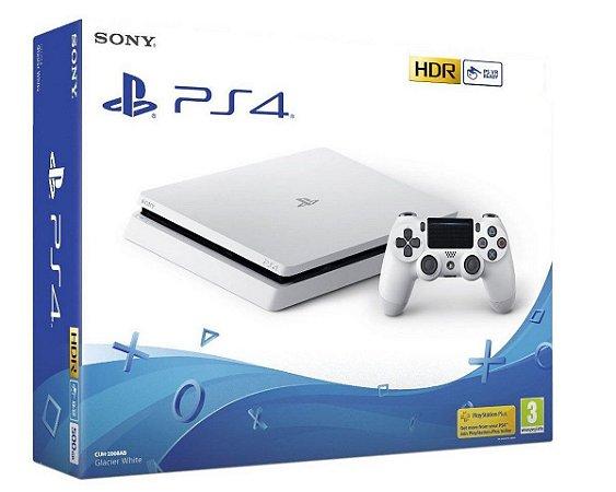 Console PlayStation 4 Slim Branco Glacier Whyte 500 Gb - Sony
