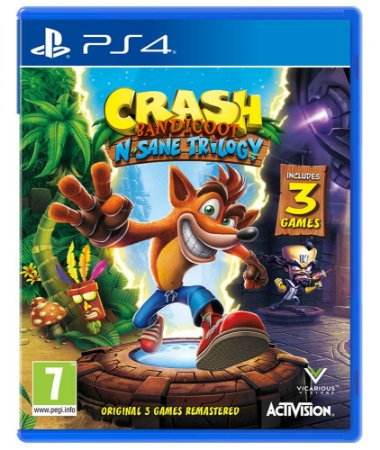Jogo Crash Bandicoot N Sane Trilogy - PS4