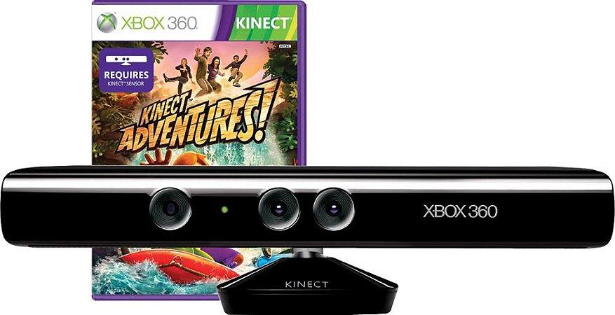Sensor Kinect Para Xbox 360 + Jogo Brinde Kinect Adventures