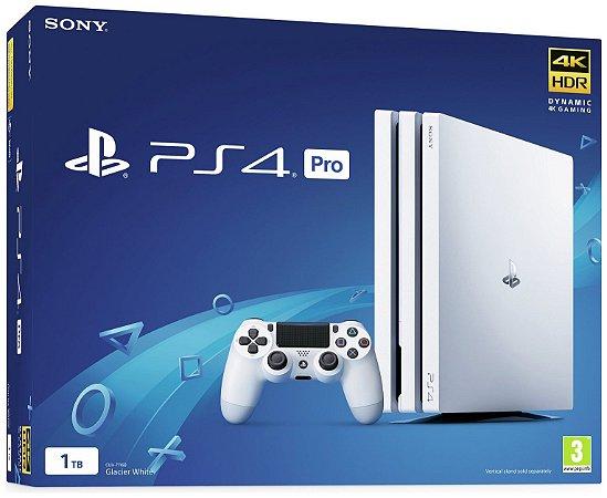 Console PlayStation 4 Pro 4k - Branco White - 1 Tb - Sony