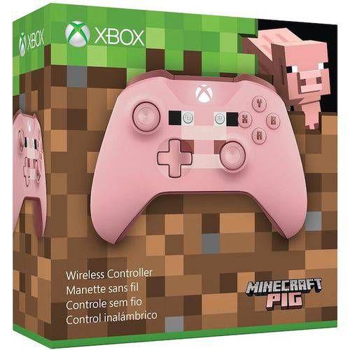 Controle Xbox one S Minecraft Pig - Microsoft