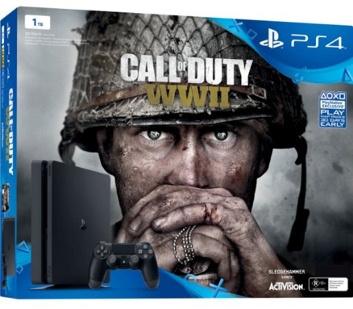 Console PlayStation 4 Slim 1 Tera + Call Of Duty WW2 - Sony