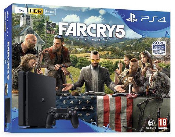 Console Playstation 4 Slim 500 Gb com o Jogo Farcry 5 (Em Português - Mídia Física) - Sony