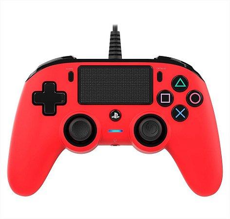 Controle Nacon Compacto Vermelho - PS4