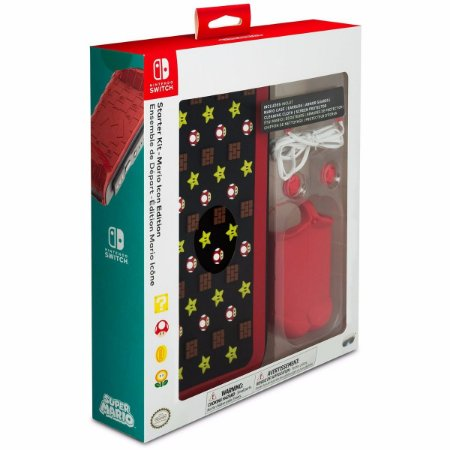 Kit Case Starter Mario Icon Edition - Nintendo Switch