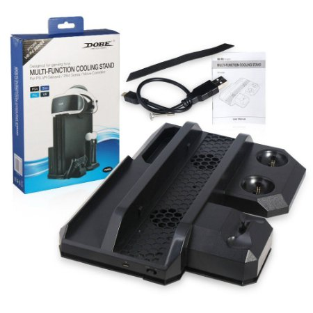 Base Vertical Carregador Cooler 3 em 1 Ps4 - Ps4 Slim - Ps4 Pro - PS4