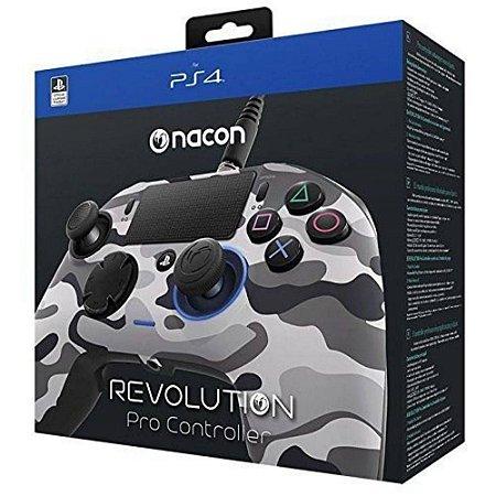 Controle Revolution Pro Nacon para Playstation 4 - Camuflado Cinza