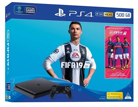 Console Playstation 4 Slim 500 Gb com o Jogo FIFA 19 (Em Português - Mídia Física) - Sony
