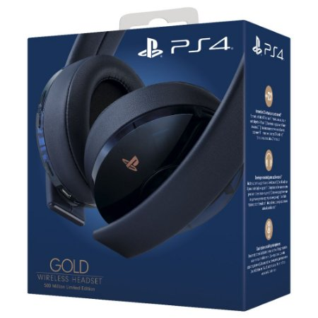 Headset Sony Wireless Stereo Gold - 500 Million Limited Edition - PS4