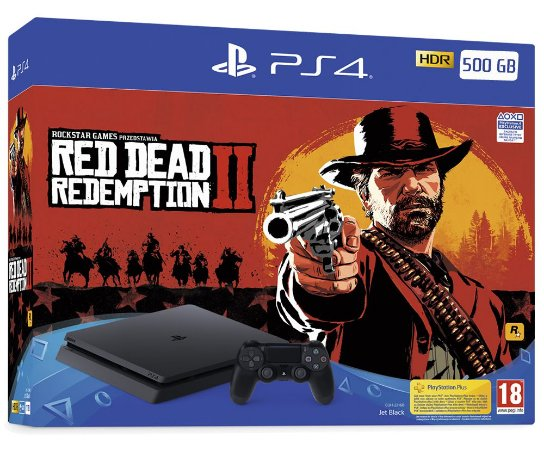 Console Playstation 4 Slim 500 Gb com o Jogo Red Dead Redemption 2 (Mídia Física) - Sony