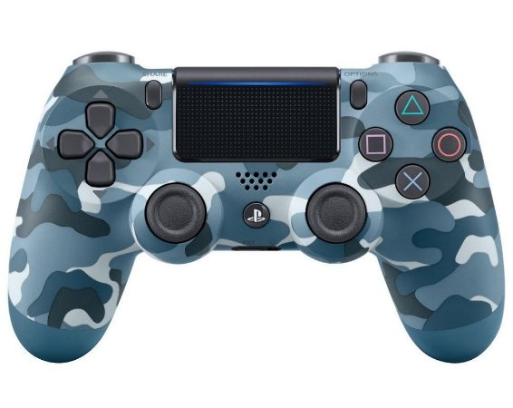 Controle Sony Dualshock 4 Camuflado Azul - Sem Fio - PS4