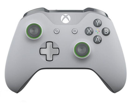 Controle Xbox One S Grooby Cinza Verde - Microsoft