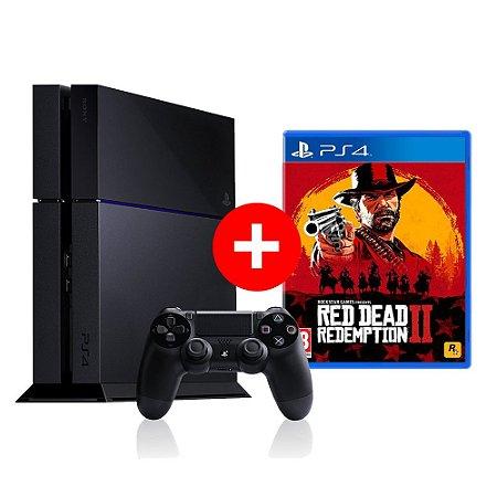 Console Playstation 4 Seminovo + Red Dead Redemption 2 - OFERTA ESPECIAL -  Sony