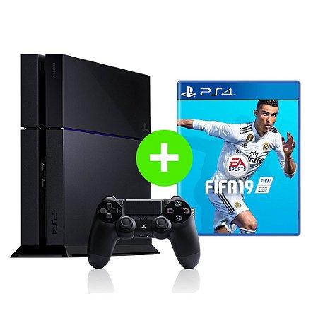 Console Playstation 4 Seminovo + FIFA 19 - OFERTA ESPECIAL - Sony