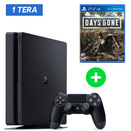 Console Playstation 4 Slim 1tb 1 Tera + Days Gone (Lançamento) - Sony
