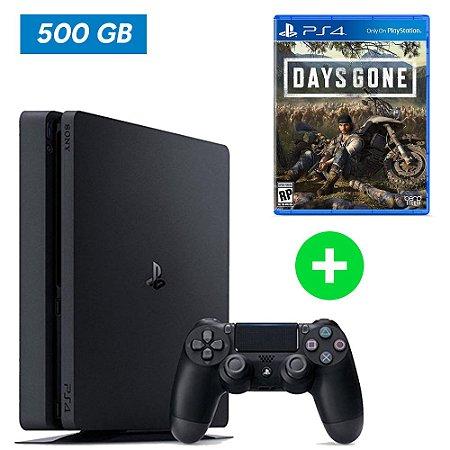 Console Playstation 4 Slim 500 Gb + Days Gone (Lançamento) - Sony