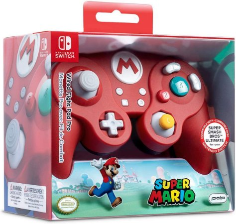 Controle Com Fio Nintendo Switch Pdp Wired Fight Pad Pro - Super Mario - Switch