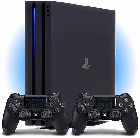Console PlayStation 4 Pro com 2 Controles - 1 Tera - Seminovo - Sony