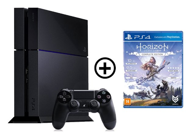 Console Playstation 4 Seminovo + Horizon Zero Dawn - OFERTA ESPECIAL - Sony