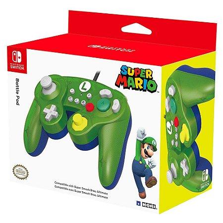 Controle Com Fio Nintendo Switch Hori - Modelo Gamecube - Luigi - Switch