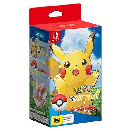 Pokémon Let's Go, Pikachu! + Pokéball Plus (Seminovo) - Switch