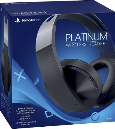 Headset Fone Playstation 4 Stereo Platinum 7.1 Wireless 3D - Ps4