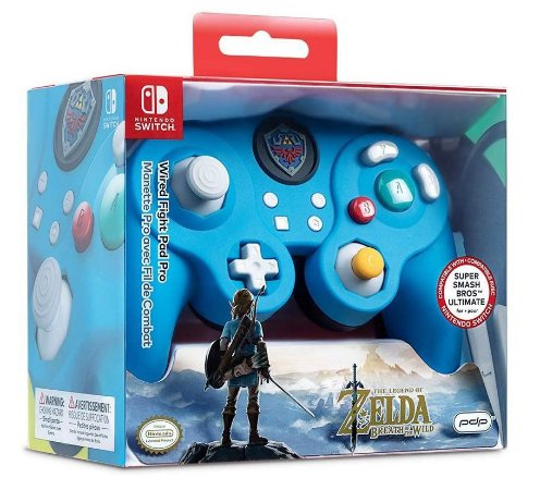 Controle Com Fio Nintendo Switch Pdp Wired Fight Pad - Zelda - Switch