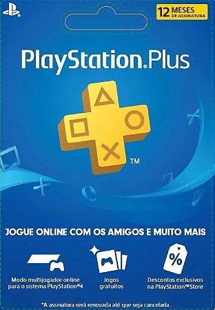 Cartão Playstation PSN Plus 12 Meses