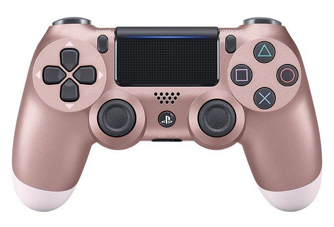Controle Sony Dualshock 4 Azul Rosa Dourado - Sem Fio - PS4