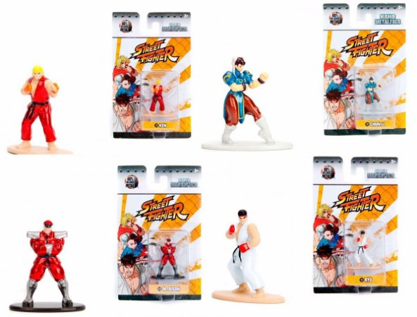 Street Fighter Metalfigs - Vários personagens