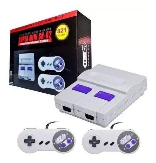 Super Mini Nintendo Classic Sn-02 - 821 Jogos 8 Bits