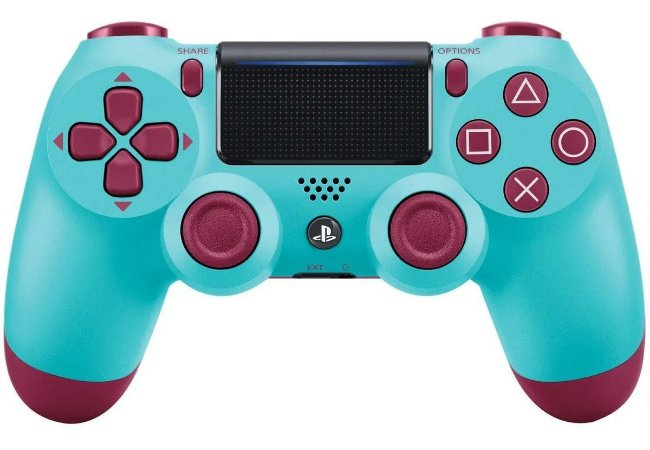 Controle Sony Dualshock 4 Berry Blue - Sem Fio - PS4