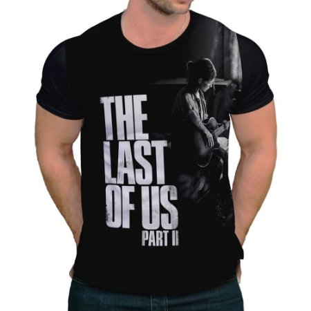 Camisa The Last of Us Parte II - Estampa Ellie Preto e Branca