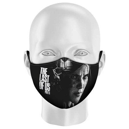 Máscara Facial The Last of Us Parte 2 - Estampa Ellie preto e branca