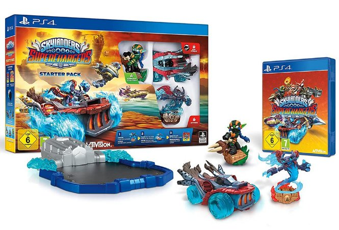 Skylanders Superchargers c/ Portal of Power + Personagens Sortidos (Seminovo) - PS4