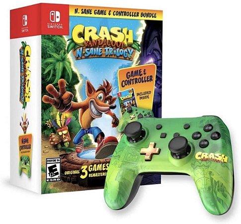 Crash Bandicoot: N. Sane Trilogy + Controle (Com fio) Bundle - Nintendo Switch