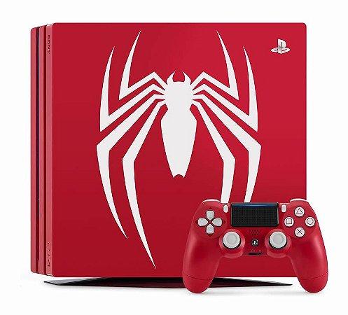 Console Playstation 4 Pro 2 TERA Edição Marvel Spider Man (Seminovo) - PS4