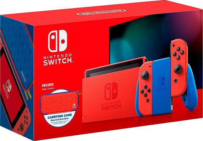 Console Nintendo Switch Edição Mario Red & Blue - Switch