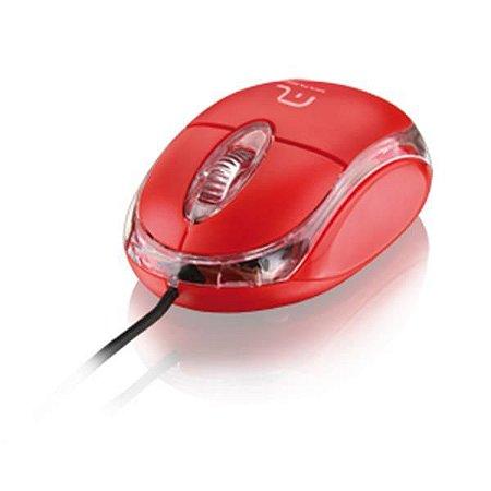 Mouse Com Fio Multilaser Classic vermelho Mo003